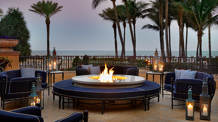 eau palm beach resort spa firepit
