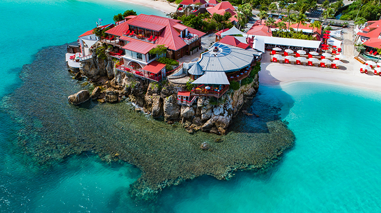eden rock st barths post renovation aerial
