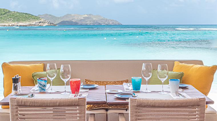 eden rock st barths sand bar restaurant view