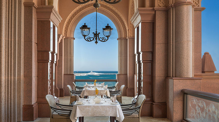 emirates palace outdoor seating