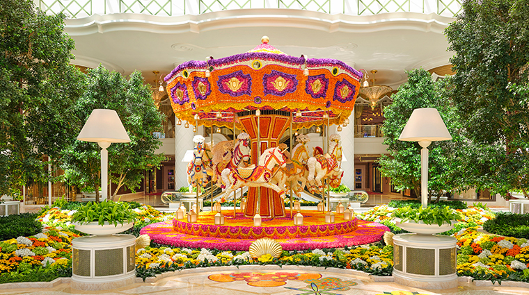 encore boston harbor atrium carousel