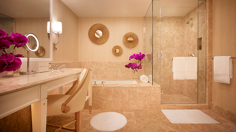 encore boston harbor premier harbor view bathroom