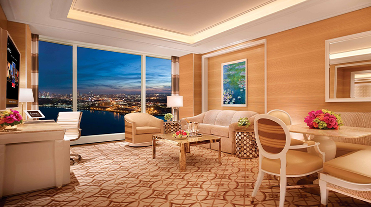 encore boston harbor signature harbor view living area