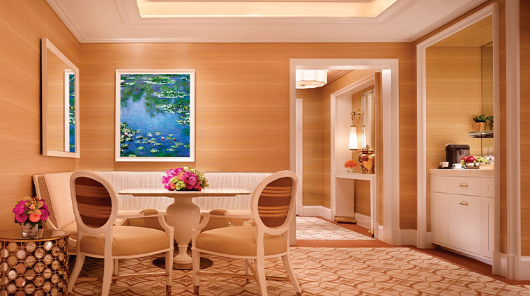 encore boston harbor signature harbor view suite dining area