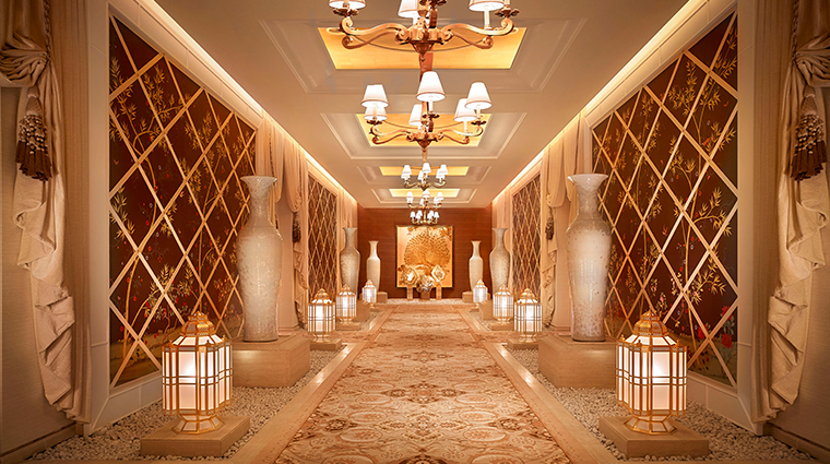 encore boston harbor spa hallway
