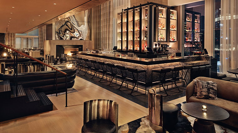 equinox hotel hudson yards bar night