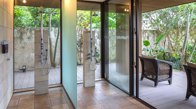 espa at the ritz carlton okinawa heat experience shower