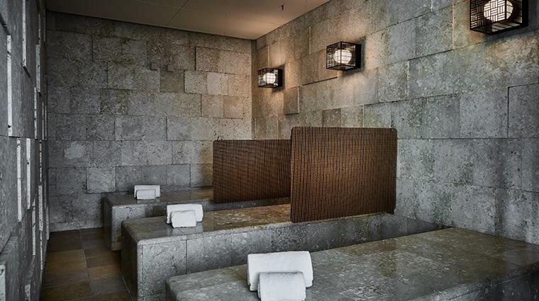 espa at the ritz carlton okinawa weathered coral sauna