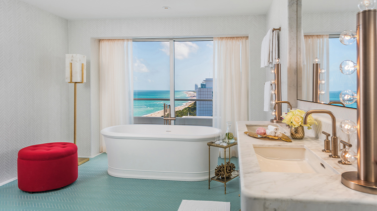 faena hotel miami beach Premier Oceanfront 3 Bedroom Bathroom