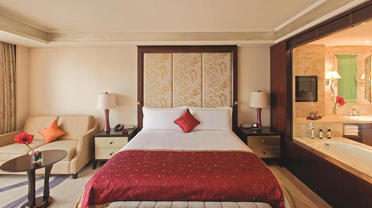 Fairmont Beijing Hotel gold bedroom