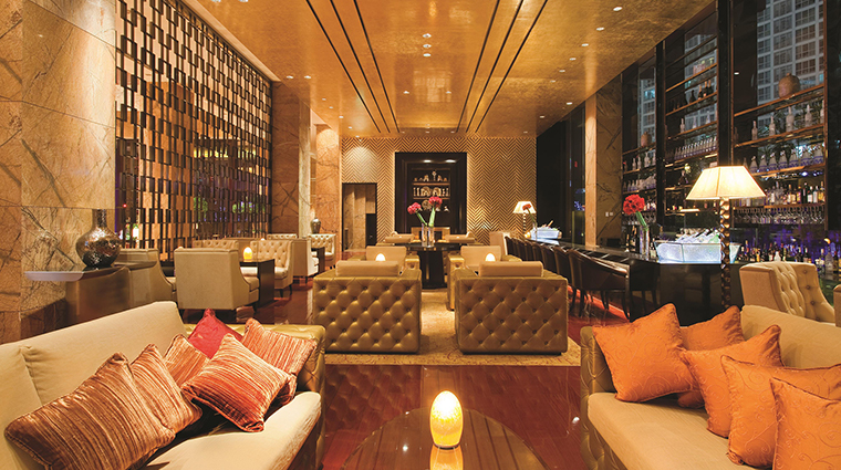Fairmont Beijing Hotel lobby night