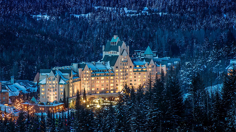 fairmont chateau whistler exterior winter