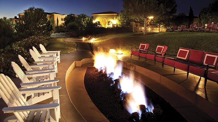 fairmont grand del mar fireplace nightitme