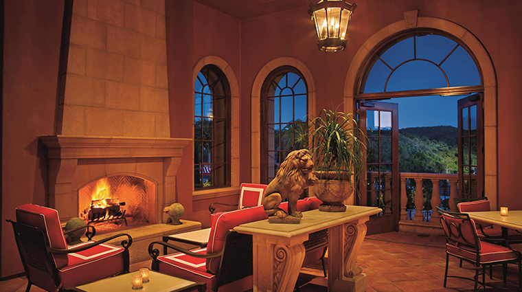 fairmont grand del mar manchester terrace fireplace