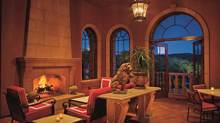 fairmont grand del mar manchester terrace fireplace
