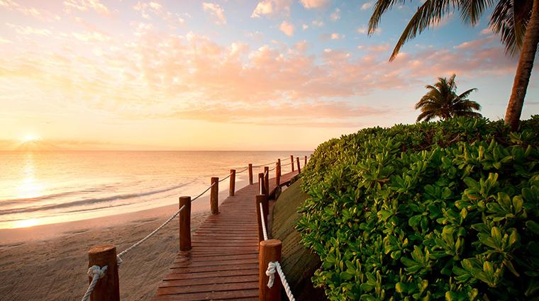 fairmont mayakoba riviera maya beach at sunset
