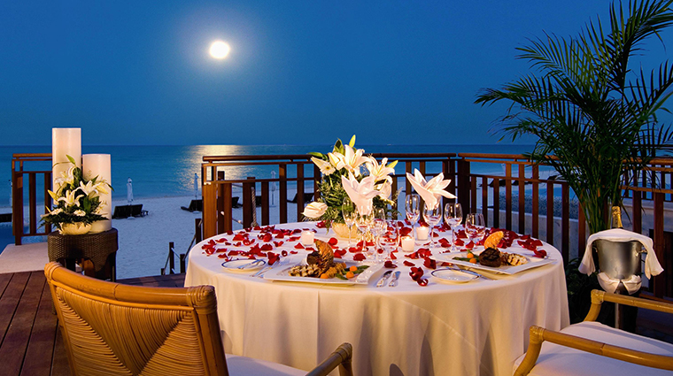 fairmont mayakoba riviera maya romantic dinner