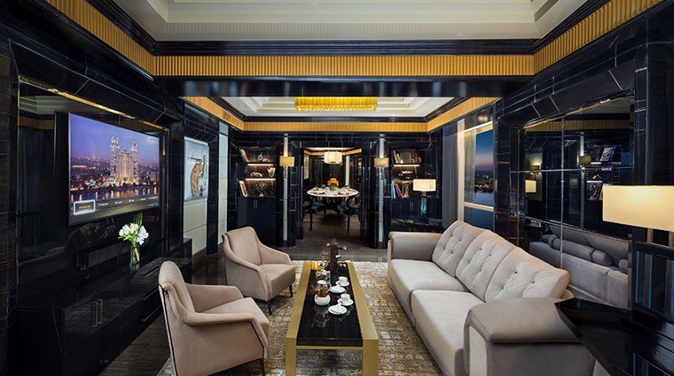 fairmont nile city diplomatic suite living room