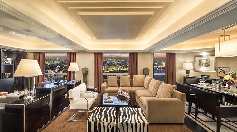 fairmont nile city presidential suit lounge