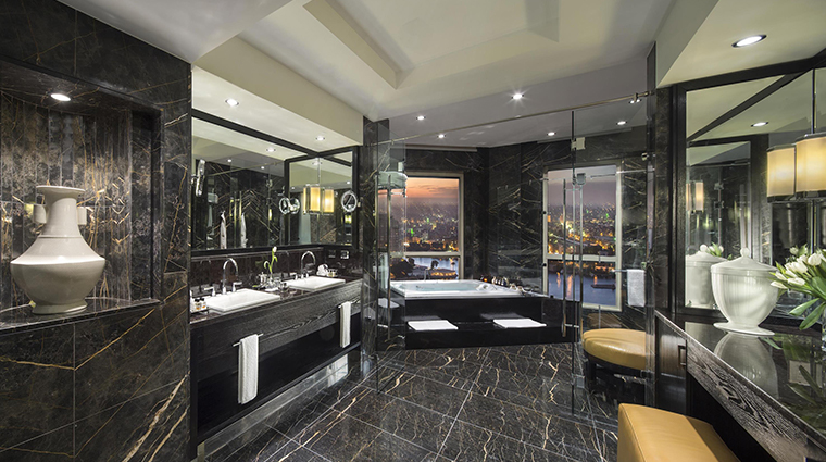 fairmont nile city presidential suite bathroom