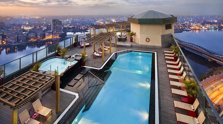 fairmont nile city sky pool
