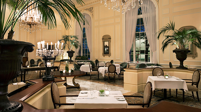 Fairmont Olympic Hotel dining side