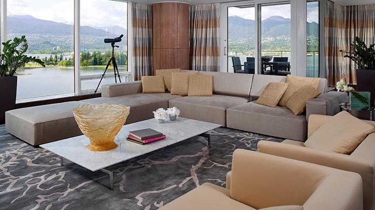 fairmont pacific rim presidential suite living room