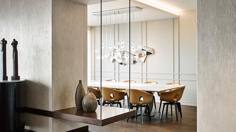 fairmont quasar istanbul presidential suite dining