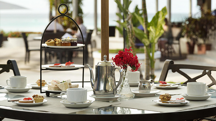 fairmont royal pavilion barbados Taboras afternoon tea