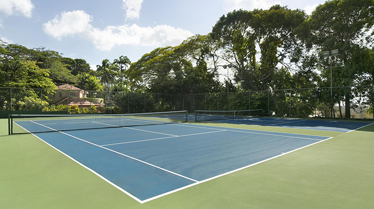 fairmont royal pavilion barbados tennis courts
