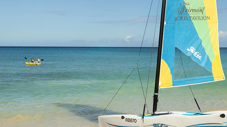 fairmont royal pavilion barbados watersports