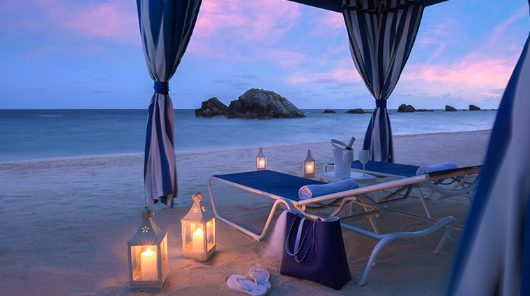 fairmont southampton beach cabana night