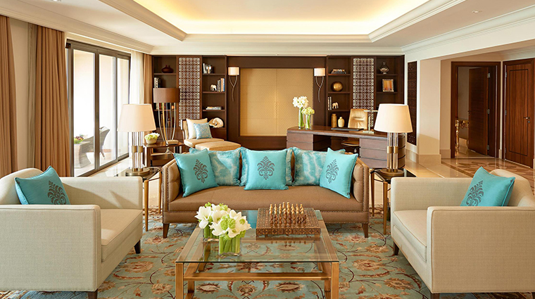 fairmont the palm presidential suite living room