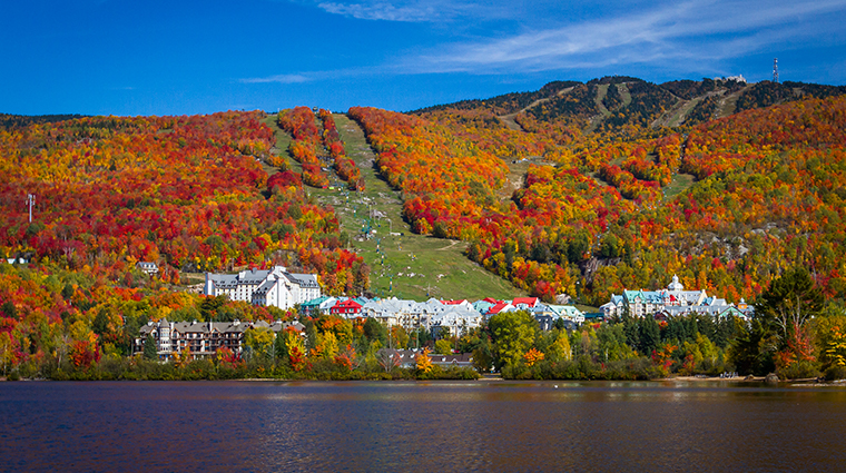 Fairmont Tremblant Fall mountain village lake