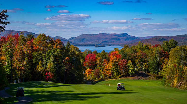 Fairmont Tremblant fall golf lake