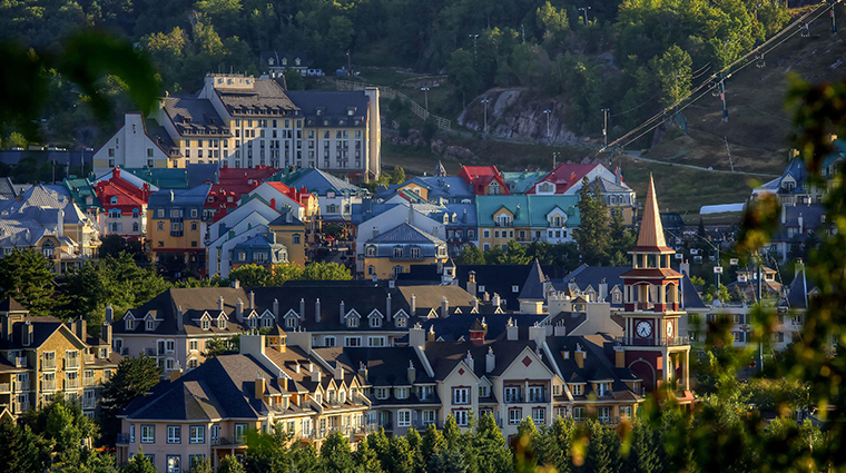 Fairmont Tremblant hotel top of village summer
