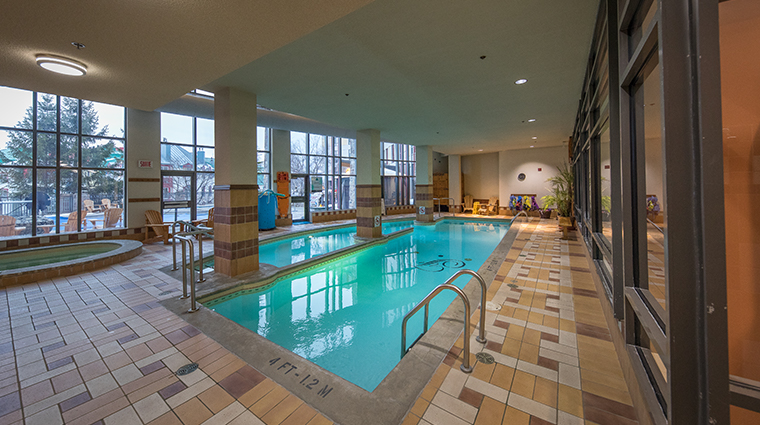 Fairmont Tremblant indoor pools hot tub