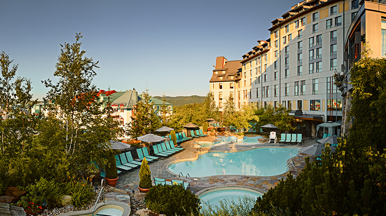 Fairmont Tremblant summer pool panoramic