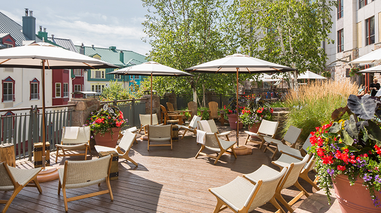 Fairmont Tremblant summer pool terrace