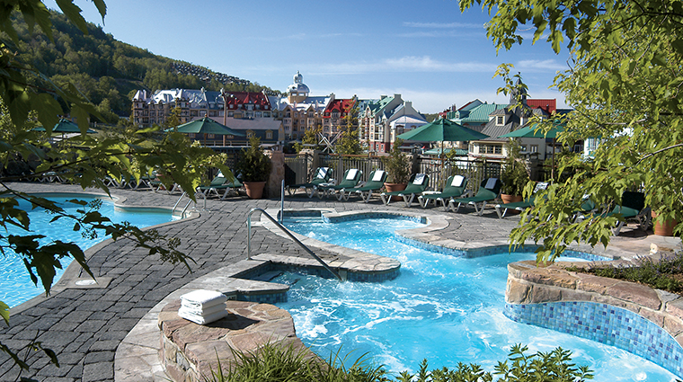 Fairmont Tremblant summer pools village