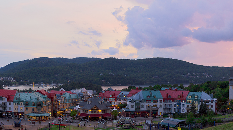 Fairmont Tremblant village hotel at top