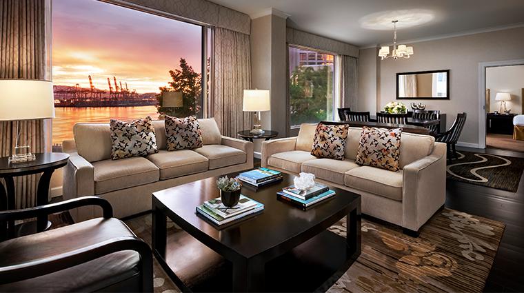 fairmont waterfront vancouver garden suite sunset