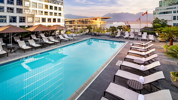 fairmont waterfront vancouver new pool