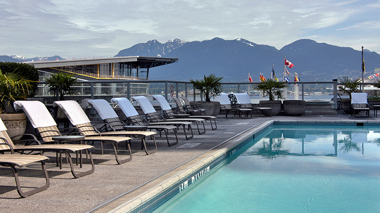 fairmont waterfront vancouver pool