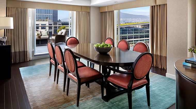 fairmont waterfront vancouver stanley park suite dining room