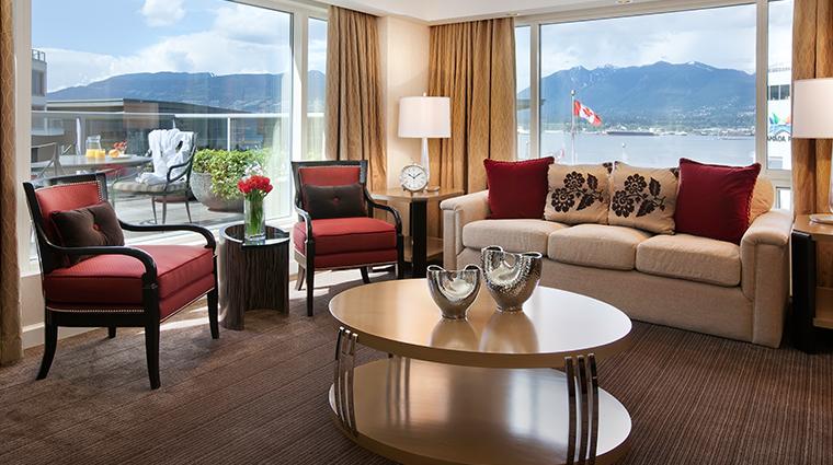 fairmont waterfront vancouver vista suite