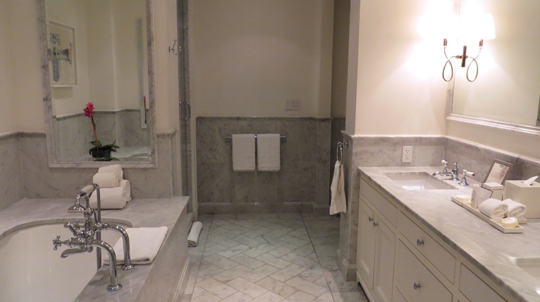 fisher island hotel and resort guest house suite bathroom