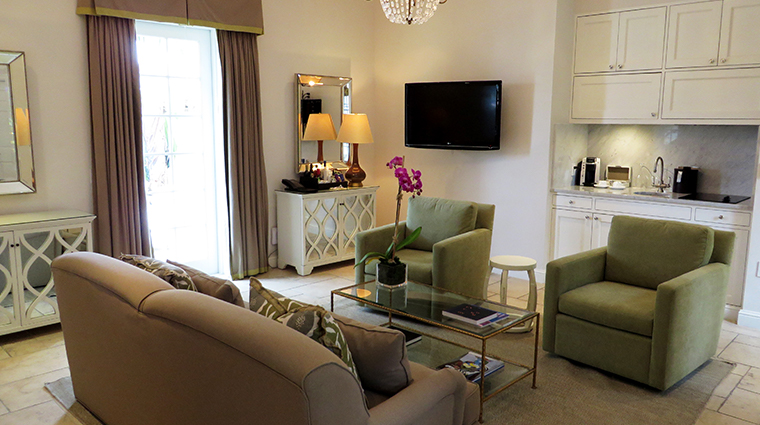 fisher island hotel and resort south cottage living room
