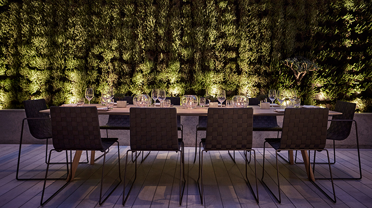 four seasons hotel bogota night dining table