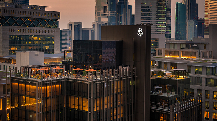 four seasons hotel dubai international financial centre rooftop aerial